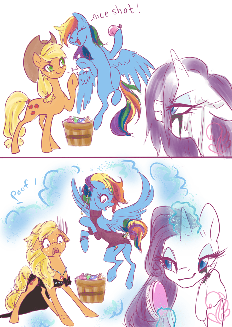 applejack-s-day-off candasaurus rarity comic rainbow dash - 9101118464