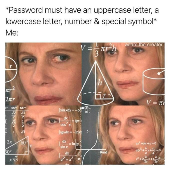 Funny meme about password creation.