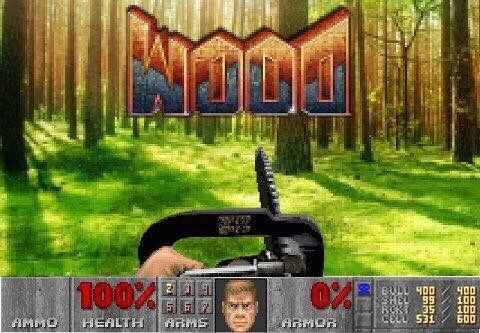 Funny meme about Doom but it's actually Wood.