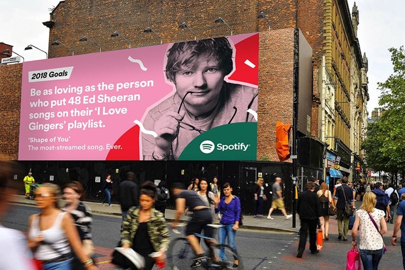 People - 2018 Goals Be as loving as the person who put 48 Ed Sheeran songs on their I Love Gingers' playlist. 'Shape of You' The most-streamed song. Ever. Spotify