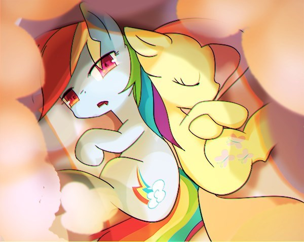 fluttershy rainbow dash youhoujou - 9101739264