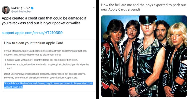 Funny tweets that make a mockery of Apple's instructions for cleaning the Apple Card