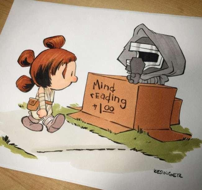 Cartoon - Aind FEading 00 KESINGER