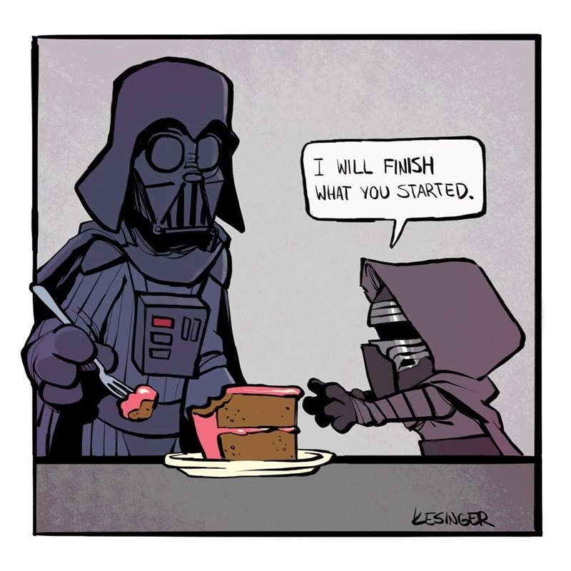 Cartoon - I WILL FINISH WHAT YOU STARTED. KESINGER O0D