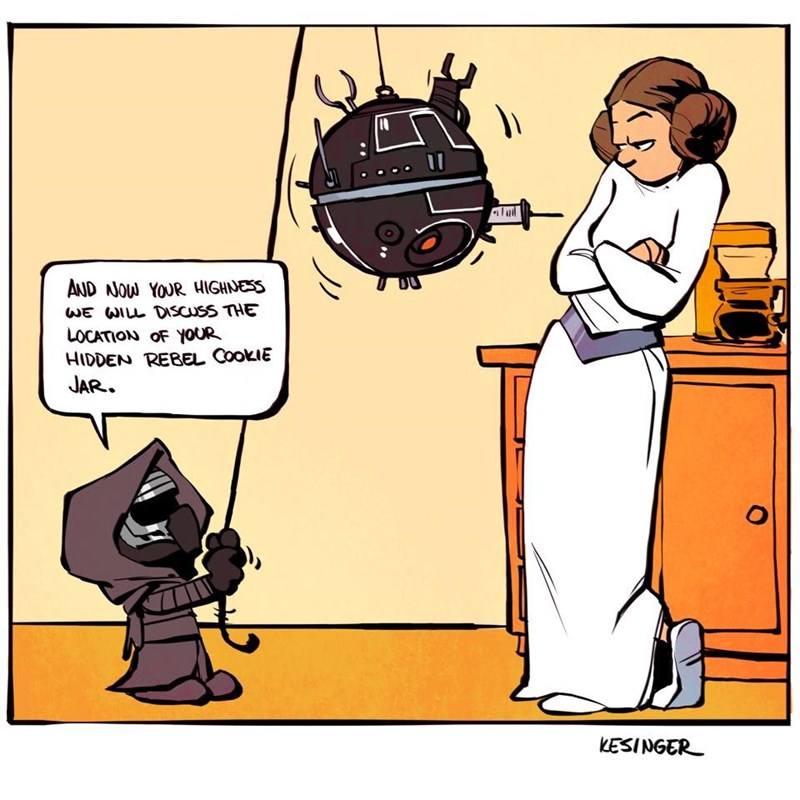 Cartoon - AND NOW YOUR HIGHNESS WE WILL DISCUSS THE LOCATION OF YOUR HIDDEN REBEL COOKIE JAR. O KESINGER