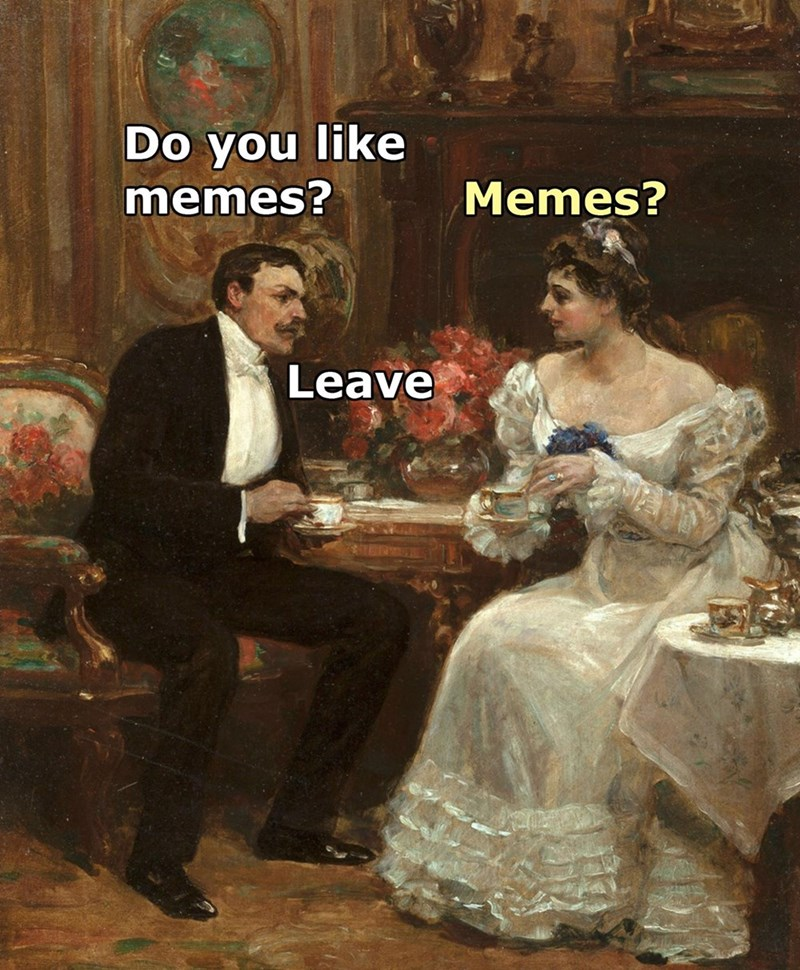 do you like memes memes leave