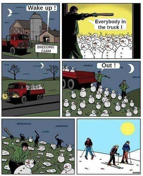 Cartoon - Wake up ! Everybody in the truck! BREEDING FARM Out! CC JEROOM