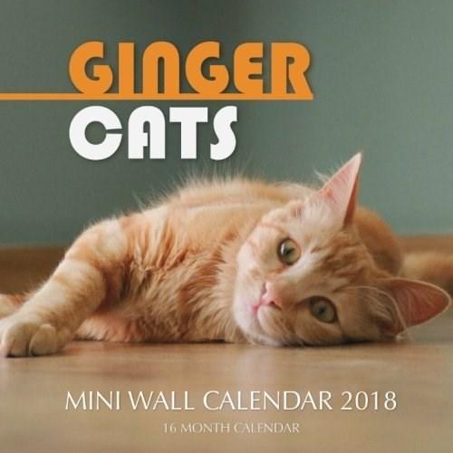 Cat - GINGER CАTS MINI WALL CALENDAR 2018 16 MONTH CALENDAR
