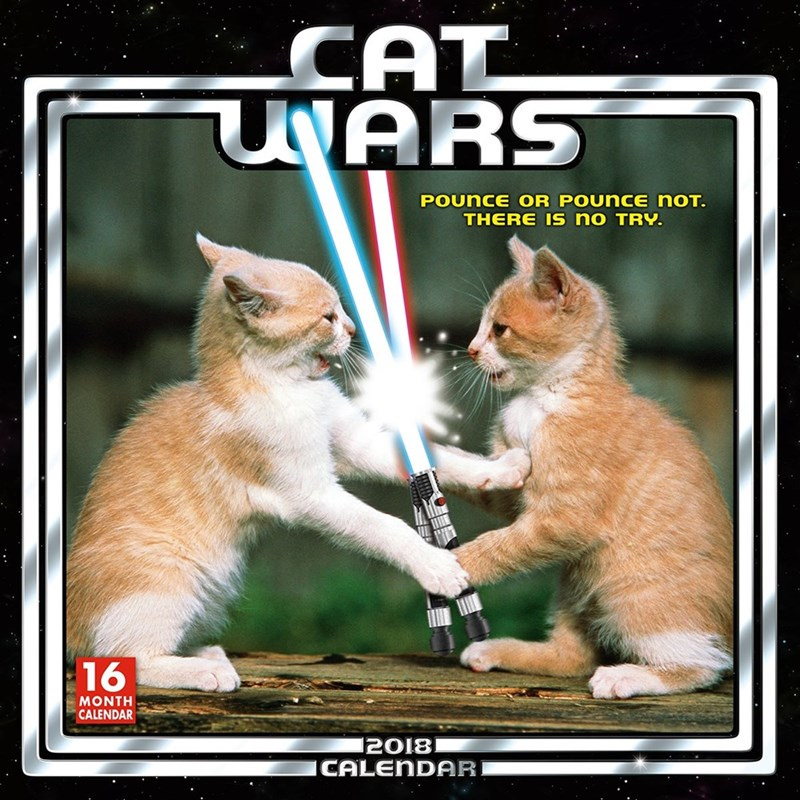 Cat - CAT UNARS POUNCE OR POUncE noT. THERE Is no TRY. 16 MONTH CALENDAR 2018 ICALENDAR