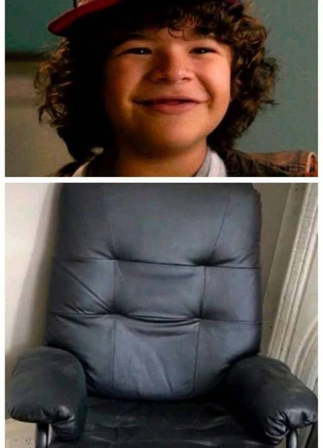 stranger things kid looks like a chair