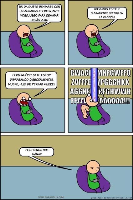 los juegos de videos son todo menos relajantes