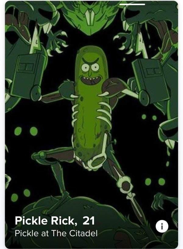 Green - Pickle Rick, 21 Pickle at The Citadel