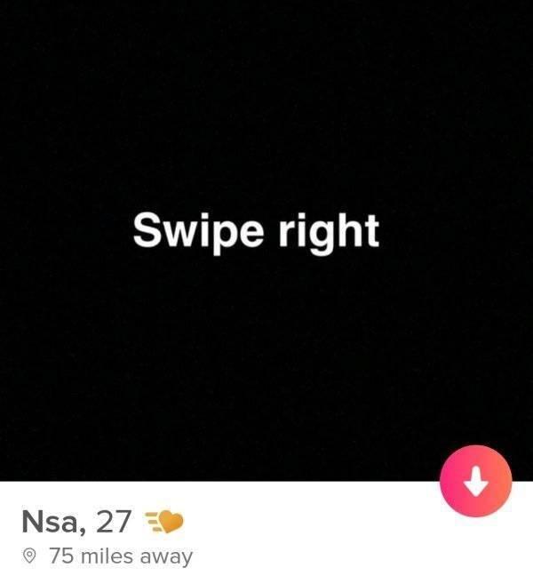 Text - Swipe right Nsa, 27 75 miles away