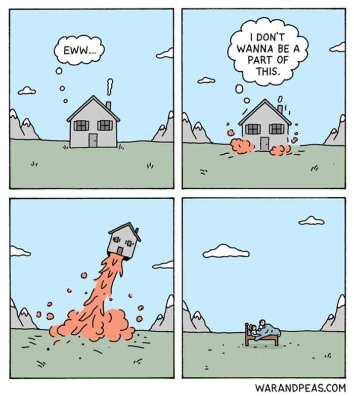 Cartoon - I DON'T WANNA BE A PART OF THIS EWW... WARANDPEAS.COM