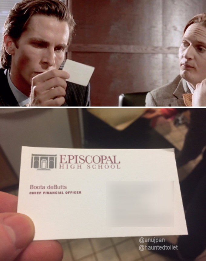 Funny meme about american psycho.