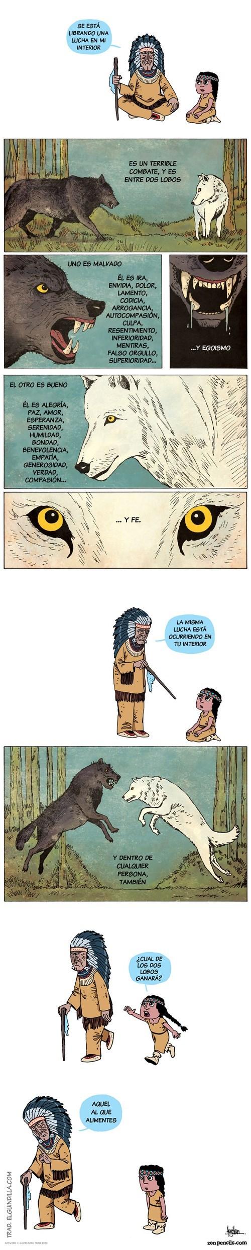 comic de elguindilla de la batalla de los dos lobos