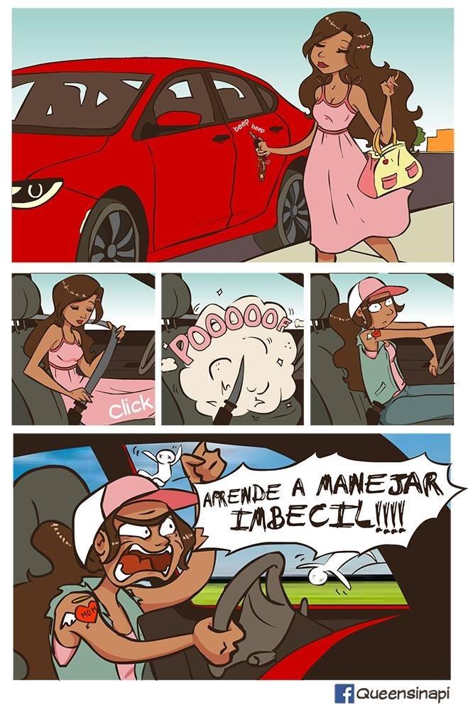 chica se transforma de princesa a camionera cuando esta detras del volante