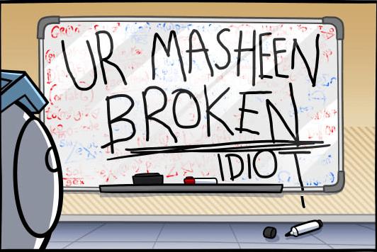 Font - FUR MASHEEN BROKEN IDIOT