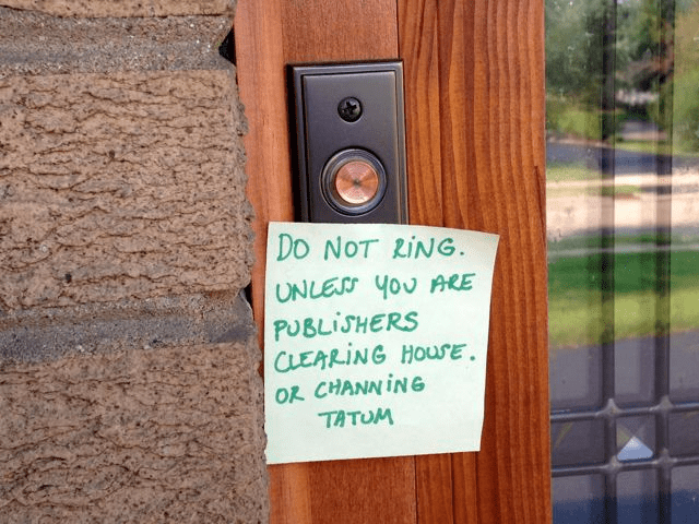 Wood - Do NOT RING UNLESS YoU ARE PUBLISHERS CLEARING HOUSE OR CHANNING TATUM