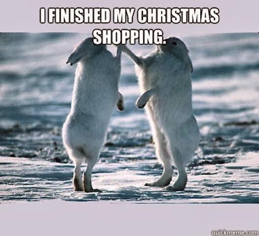 Photo caption - OFINISHED MY CHRISTMAS SHOPPING quickmeme.com