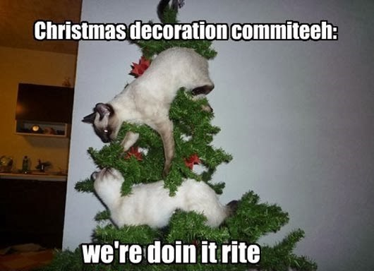 Goats - Christmas decoration commiteeh: we're doin it rite