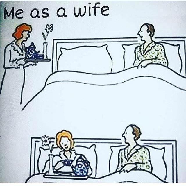 Cartoon - Me as a wife