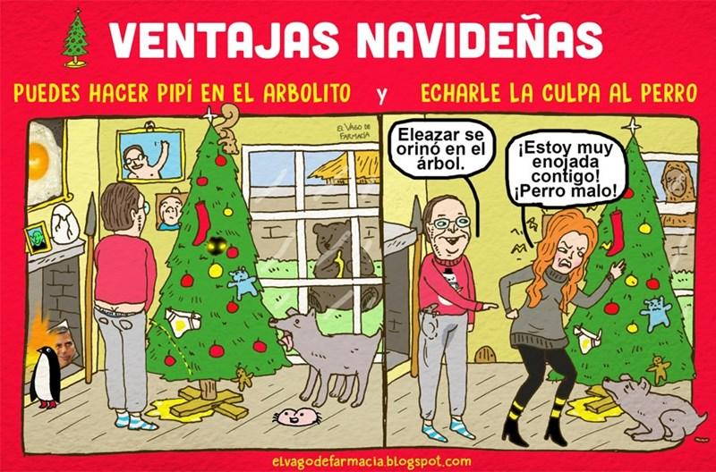 elvagodefarmacia ventajas navidenas hacer pipi en el arbolito