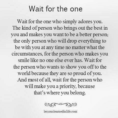 meme about waiting for a special someone