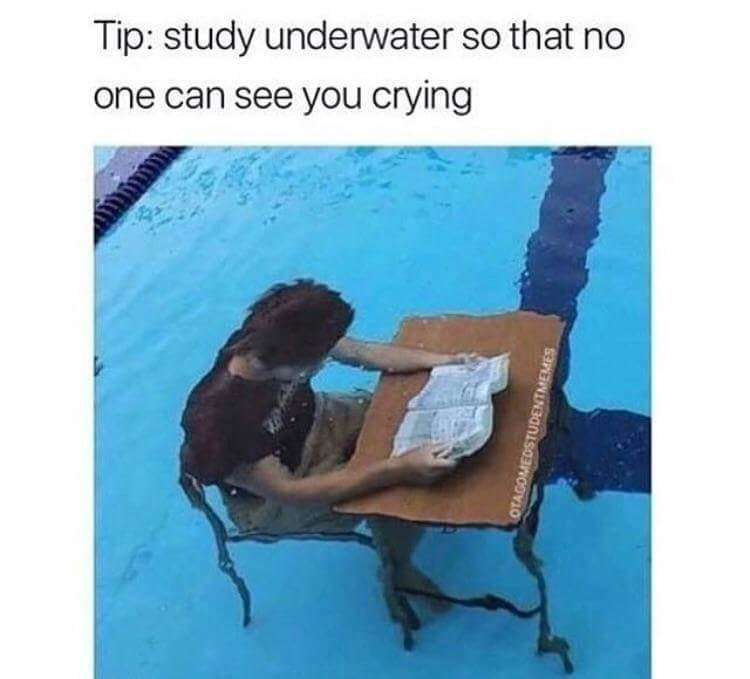 Organism - Tip: study underwater so that no one can see you crying OTAGOMEDSTUDENTMEMES