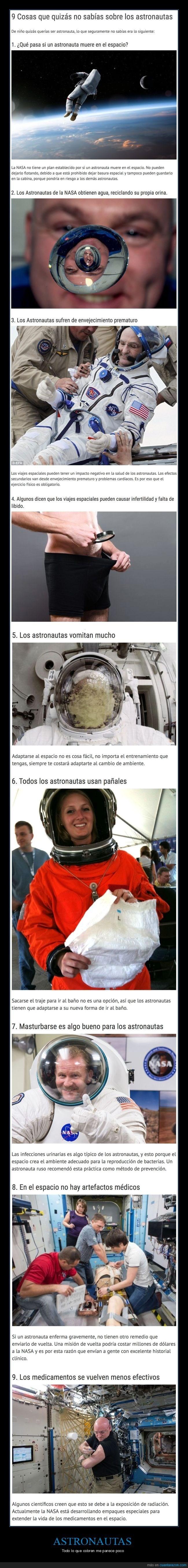 curiosidades que no tenias idea de los astronautas