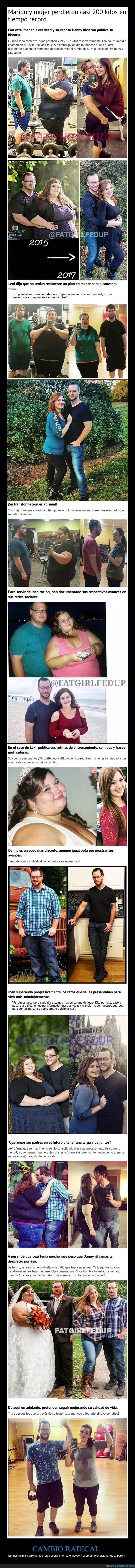 pareja que perdio de peso juntos y estan irreconocibles