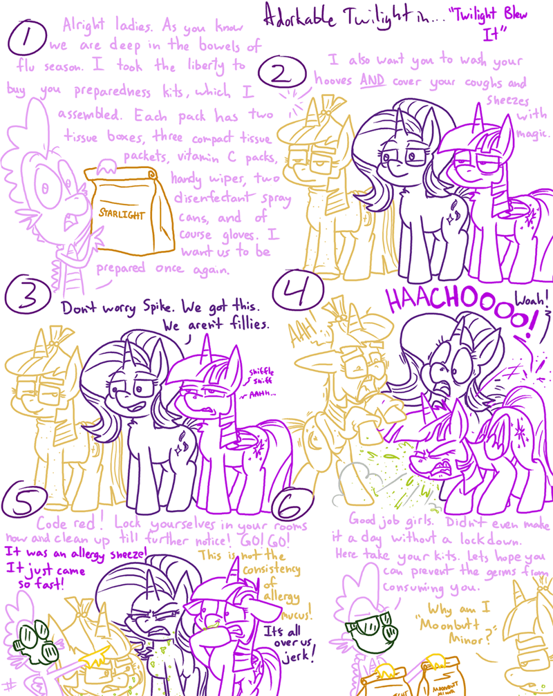 comic twilight sparkle spike starlight glimmer moon dancer adorkable twilight and friends - 9104531968