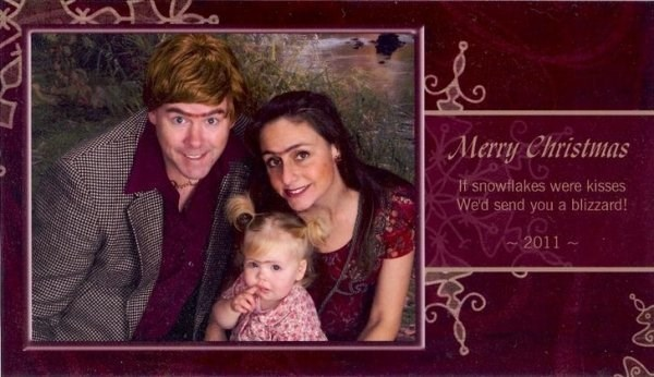 Text - Merry Christmas It snowflakes were kisses We'd send you a blizzard! 2011