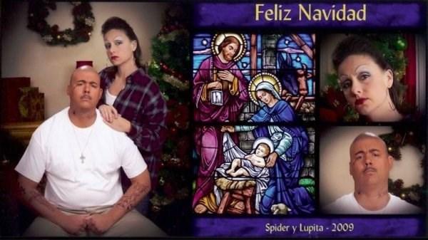 Stained glass - Feliz Navidad Spider y Lupita- 2009