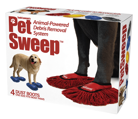 Dog supply - S re e Pet Sweep Todd Lawson's Animal-Powered Debris Removal System TM sweep DUST BOOTS ONE SIZE FITS MOST PAWS
