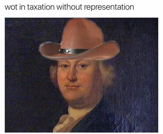Hat - wot in taxation without representation