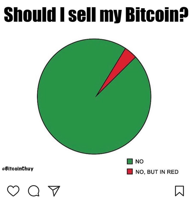 Green - Should I sell my Bitcoin? NO @BitcoinChuy NO, BUT IN RED