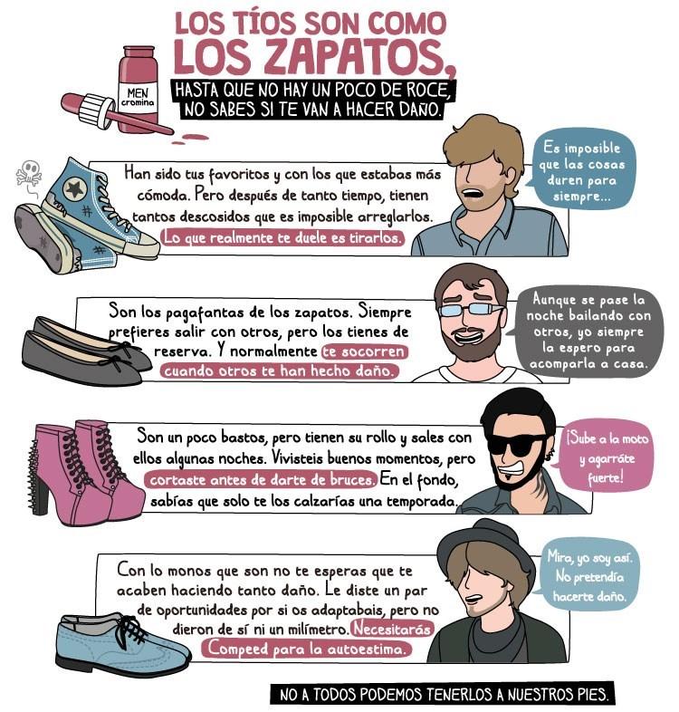 los chicos son como los zapatos