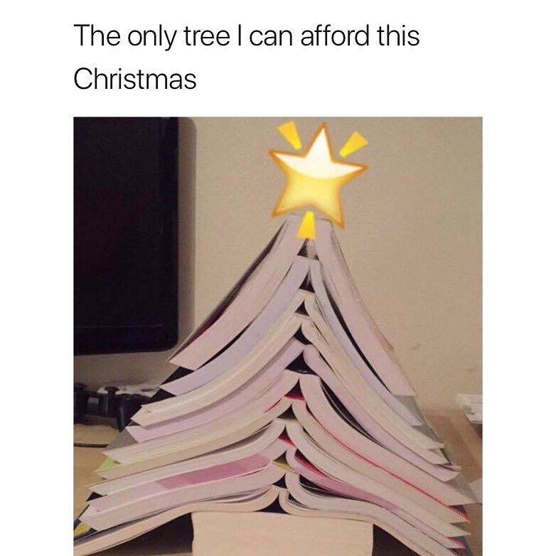 meme - Dress - The only tree I can afford this Christmas