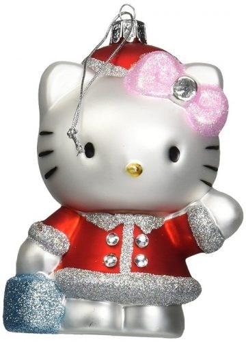 Christmas tree ornament of hello kitty waving