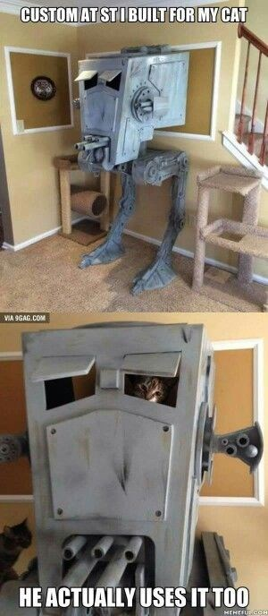 Product - CUSTOM AT STIBUILT FOR MY CAT VIA 9GAG.COM HE ACTUALLY USES IT TOO MEMEFULCOH