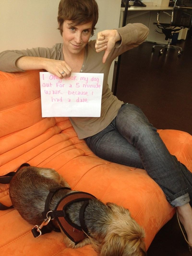 human shaming - Leg - I o o my dog 0ut For a 5 minude wAK beczuse 2 date