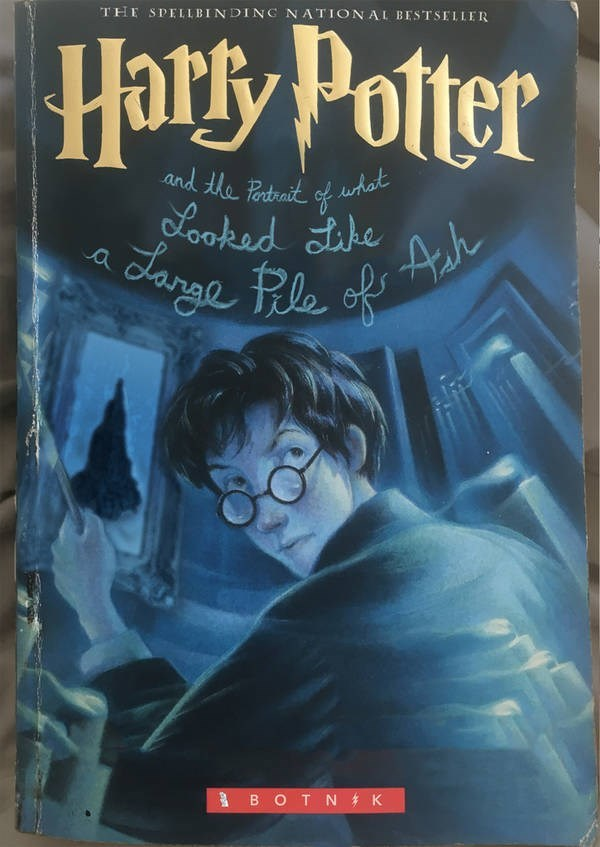 Harry Potter book cover created by a bot