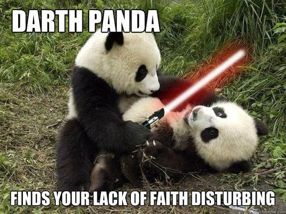 Panda - DARTH PANDA FINDS YOUR LACK OF FAITH DISTURBING guickrmeme.com