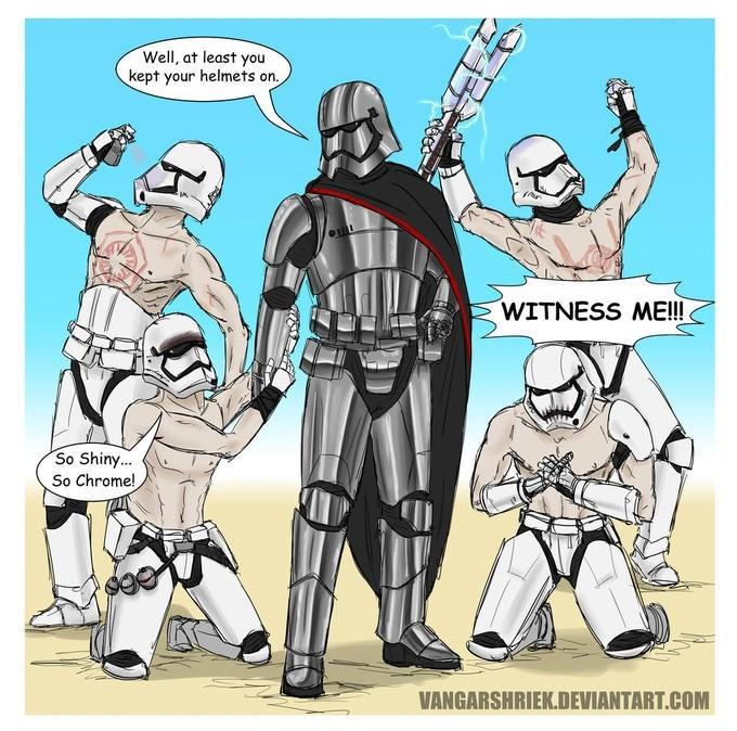 Cartoon - Well, at least you kept your helmets on WITNESS ME!!! So Shiny... So Chrome! VANGARSHRIEK.DEVIANTART.COM
