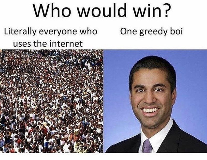 People - Who would win? Literally everyone who One greedy boi uses the internet