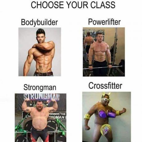 Muscle - CHOOSE YOUR CLASS Powerlifter Bodybuilder Crossfitter Strongman SRUNGMAR ONSOR THE NGMAN