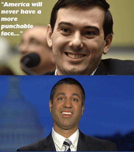 Funny meme comparing Ajit Pai to Martin Shkreli.