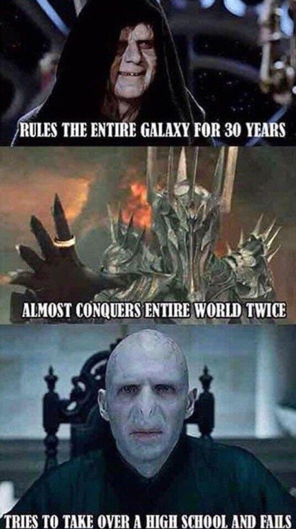 Funny meme about voldemort.