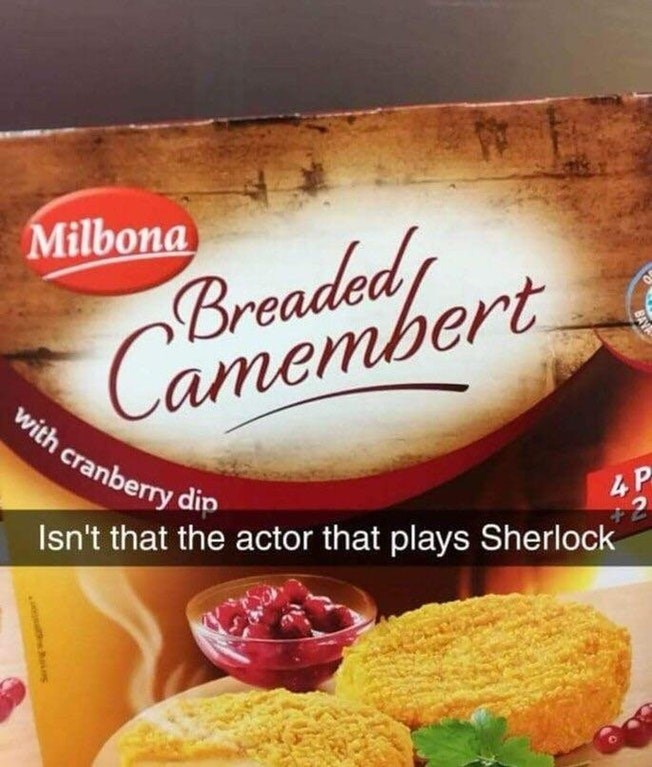 Funny meme about benedict cumberbatch.